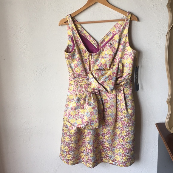 Zac Posen for Target Dresses & Skirts - Pink & gold floral formal dress with bow & zippers